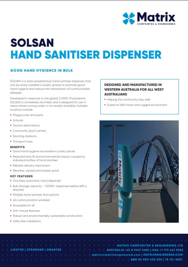 SOLSAN Hand Sanitiser Dispenser