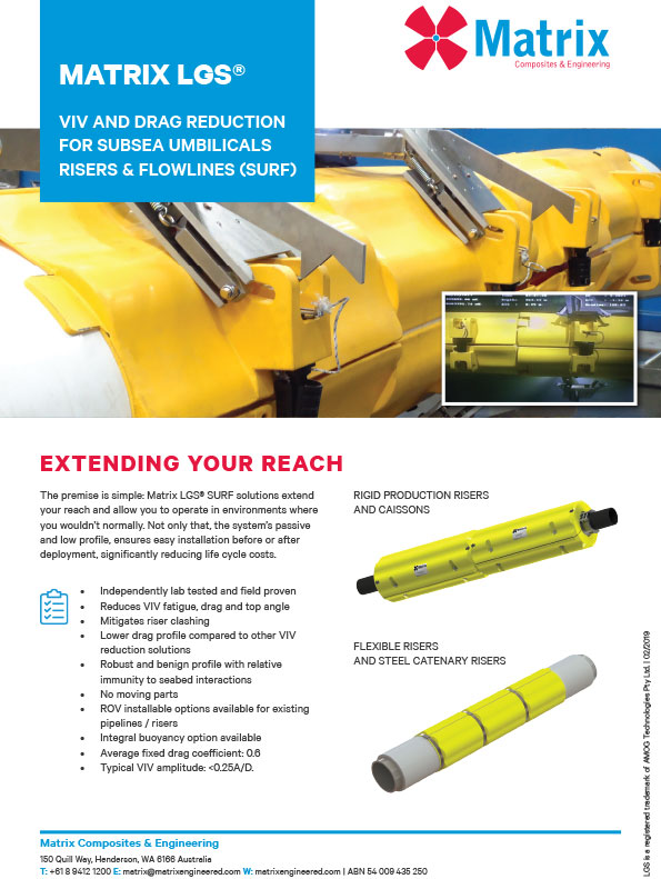 Matrix LGS® VIV & Drag Reduction for SURF Leaflet